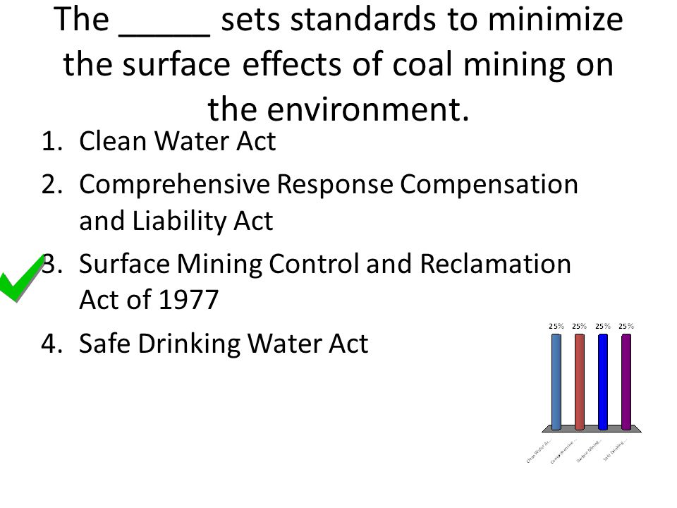 The _____ sets standards to minimize the surface effects of coal mining on the environment.