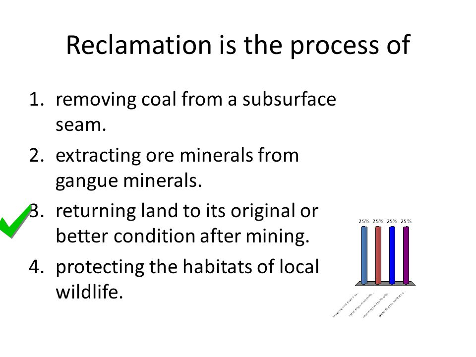 Reclamation is the process of