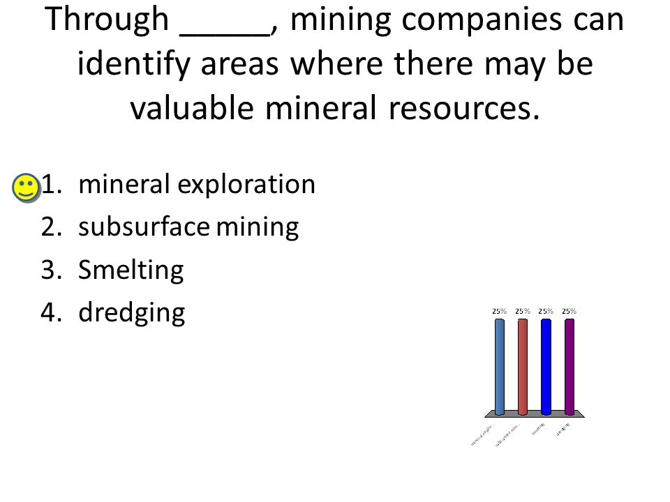 Through _____, mining companies can identify areas where there may be valuable mineral resources.