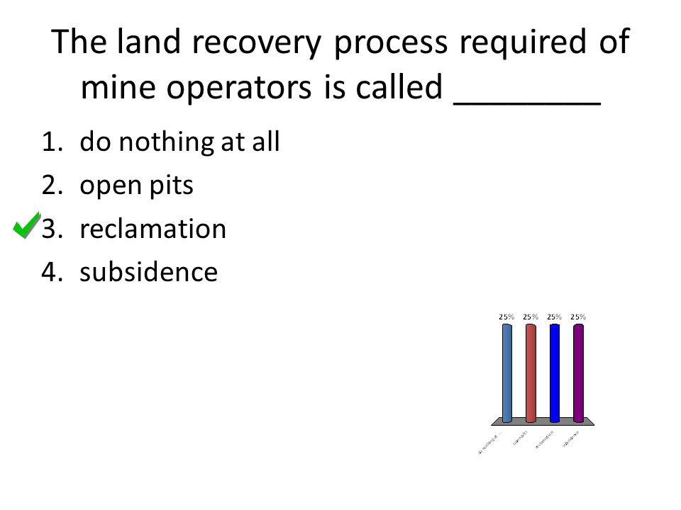 The land recovery process required of mine operators is called ________