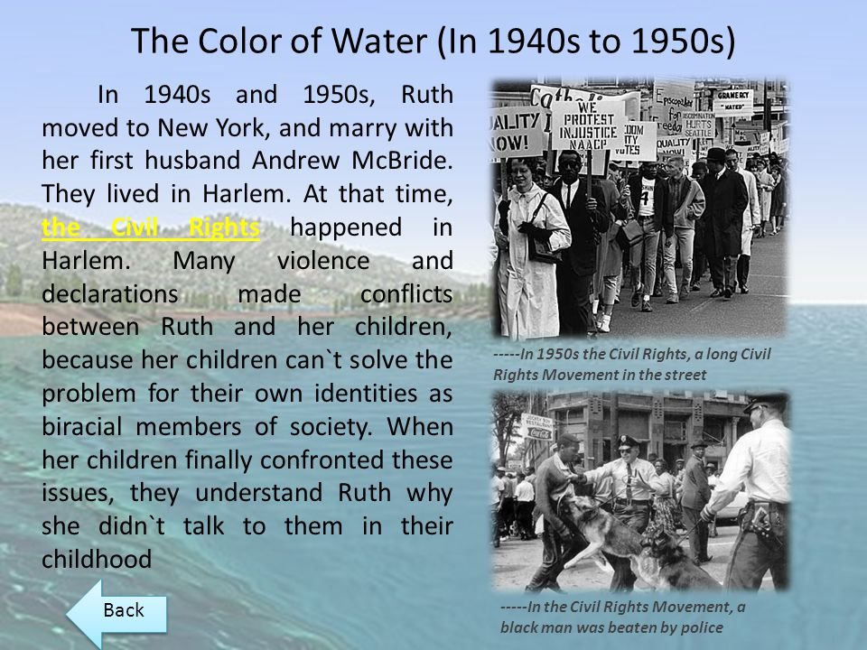 The Color of Water (In 1940s to 1950s)