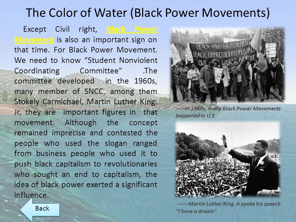 The Color of Water (Black Power Movements)