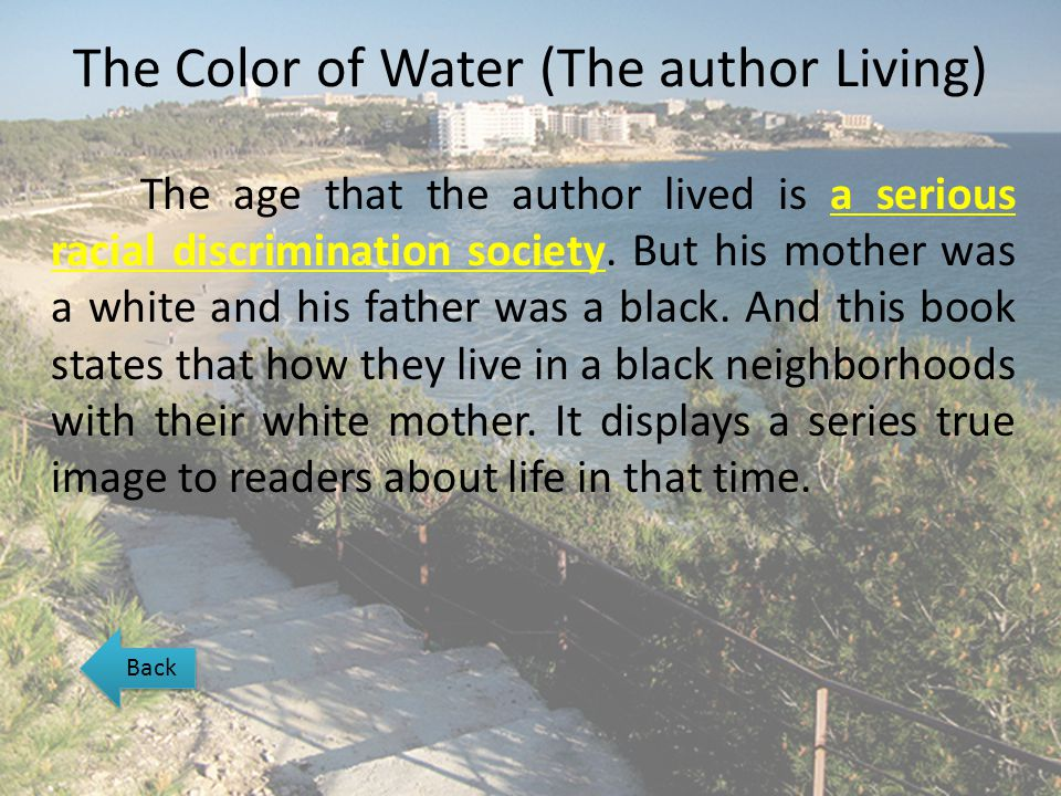 The Color of Water (The author Living)