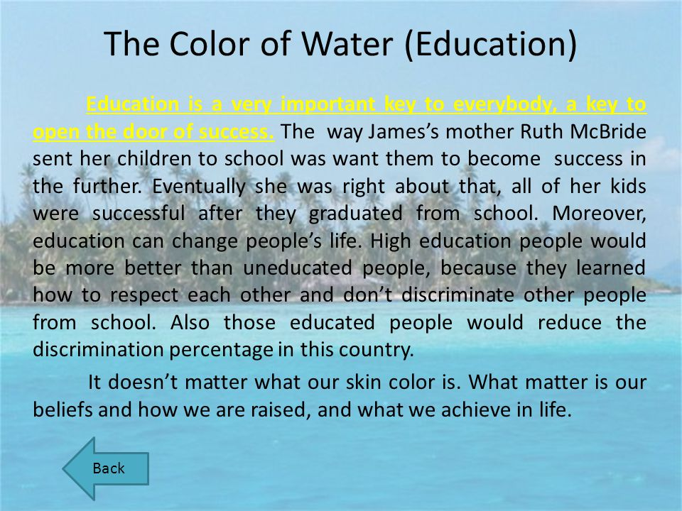 The Color of Water (Education)