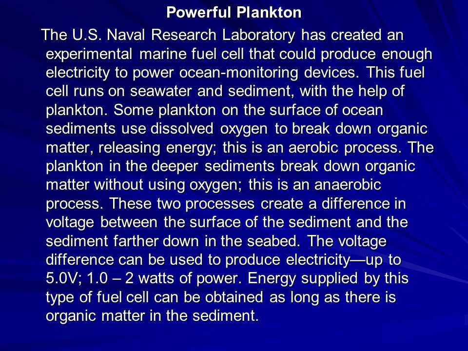Powerful Plankton