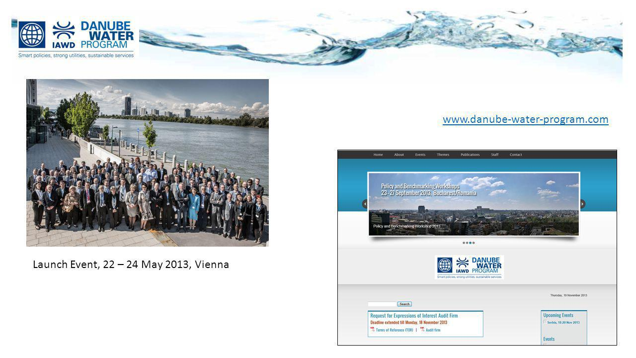 www.danube-water-program.com Launch Event, 22 – 24 May 2013, Vienna