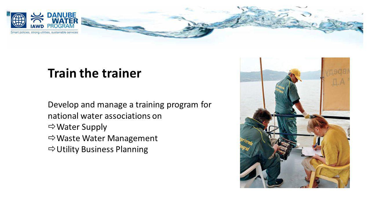 Train the trainer Develop and manage a training program for
