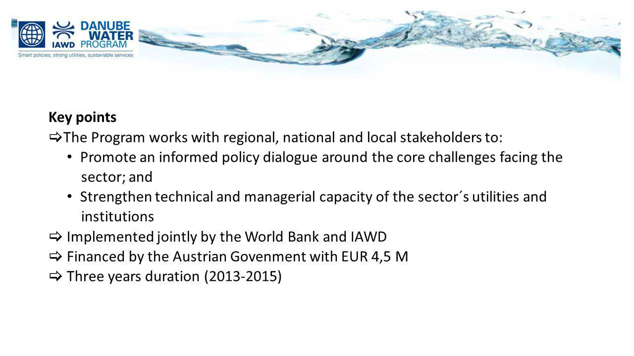 Key points The Program works with regional, national and local stakeholders to: