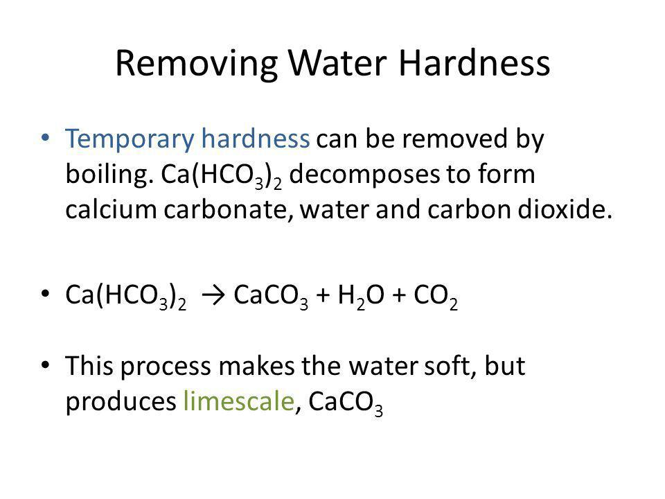 Removing Water Hardness