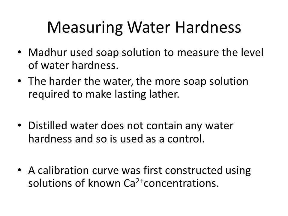 Measuring Water Hardness