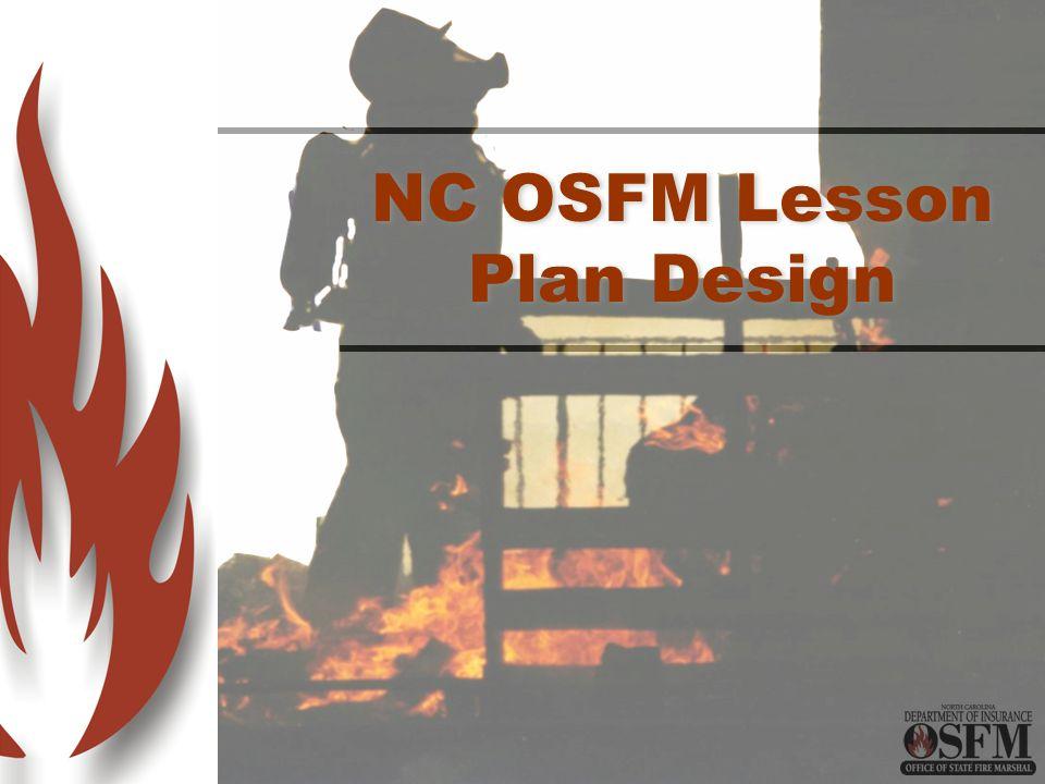 NC OSFM Lesson Plan Design
