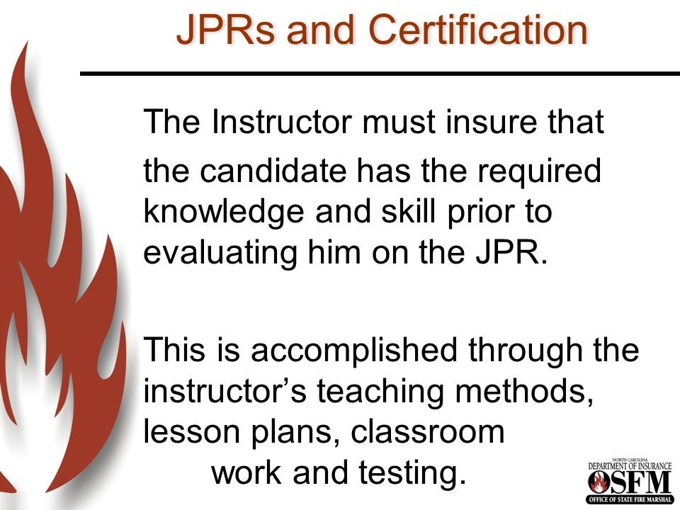 JPRs and Certification