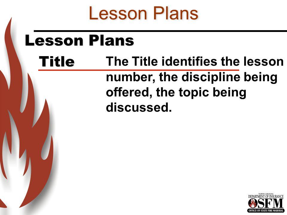 Lesson Plans Lesson Plans Title