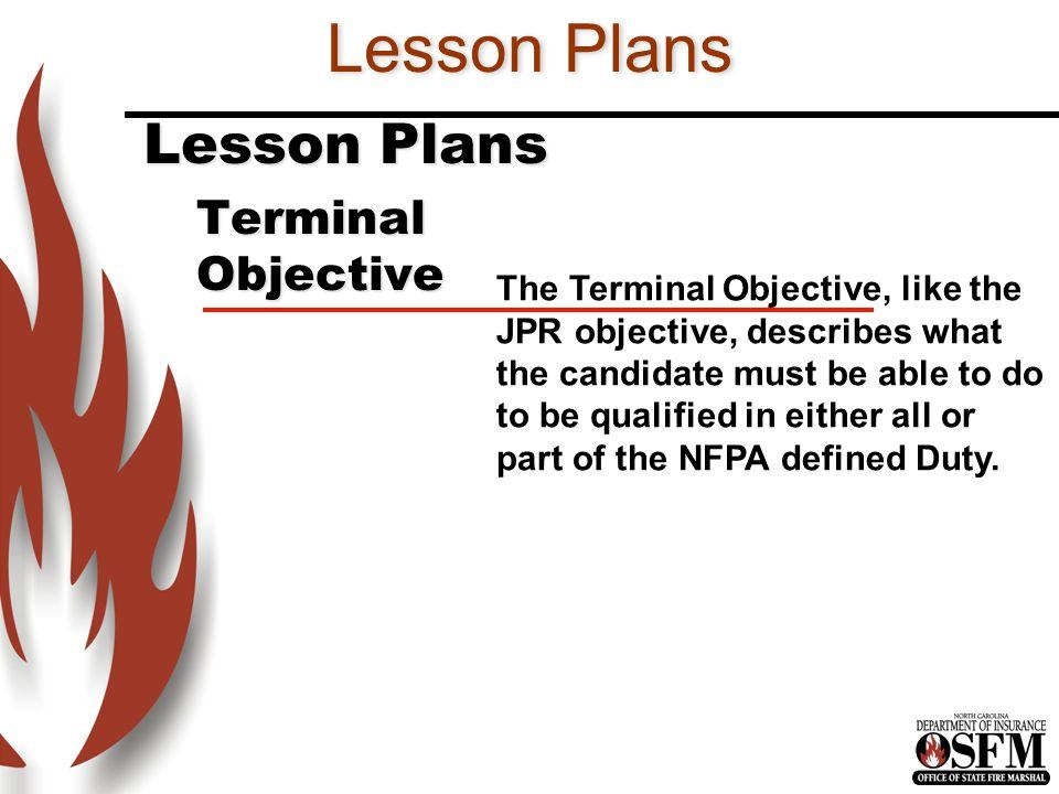 Lesson Plans Lesson Plans Terminal Objective