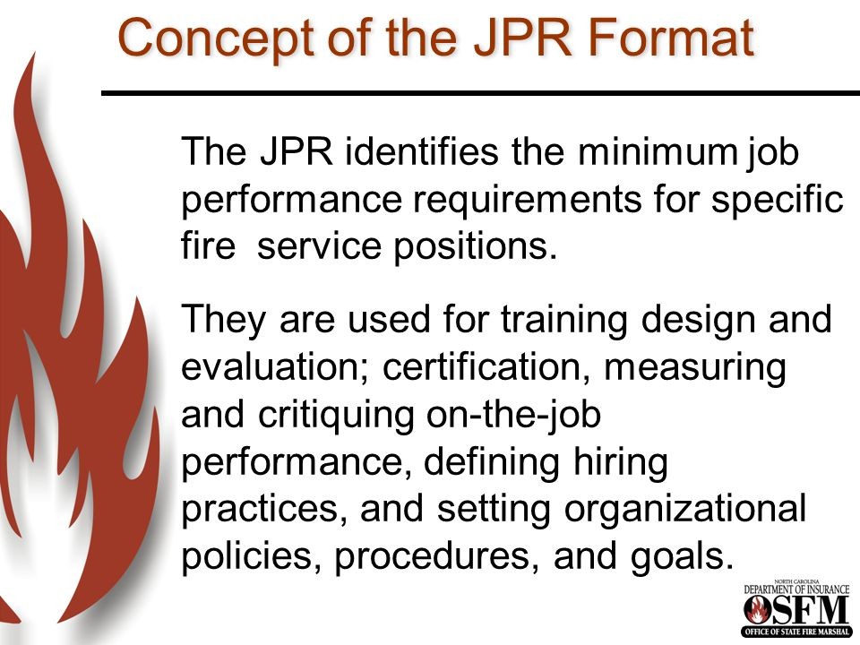 Concept of the JPR Format