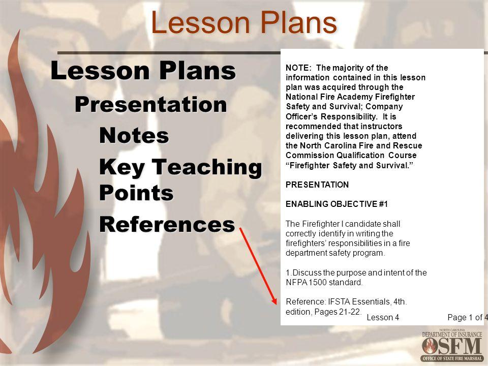 Lesson Plans Lesson Plans Presentation Notes Key Teaching Points