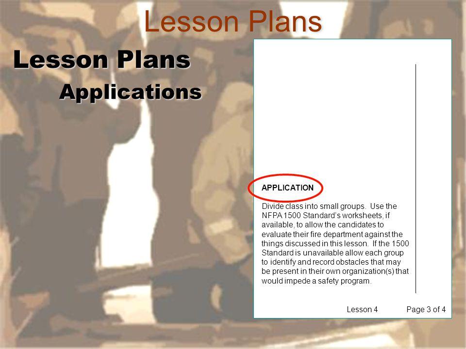 Lesson Plans Lesson Plans Applications APPLICATION