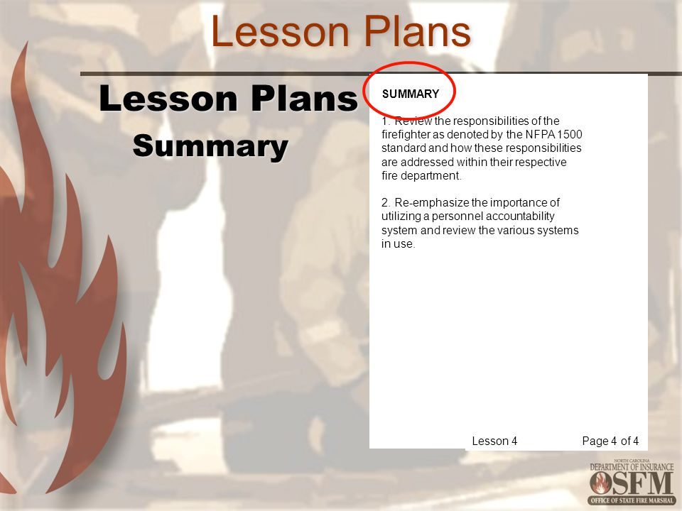 Lesson Plans Lesson Plans Summary SUMMARY