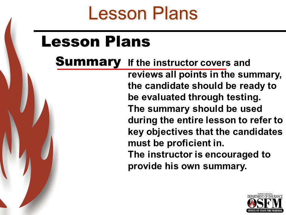 Lesson Plans Lesson Plans Summary