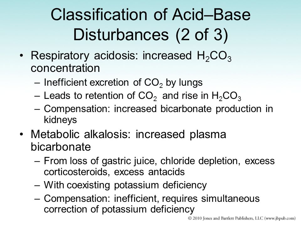 Classification of Acid–Base Disturbances (2 of 3)