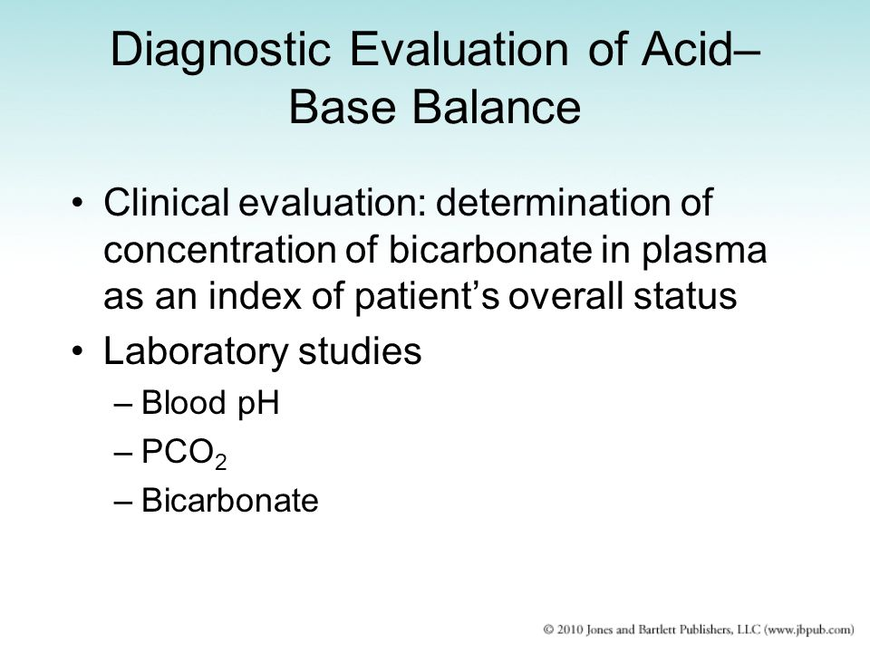 Diagnostic Evaluation of Acid– Base Balance