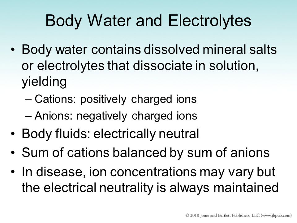 Body Water and Electrolytes