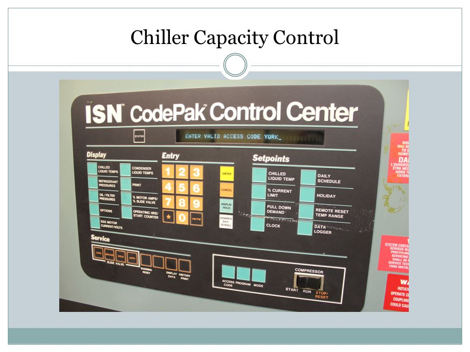 Chiller Capacity Control