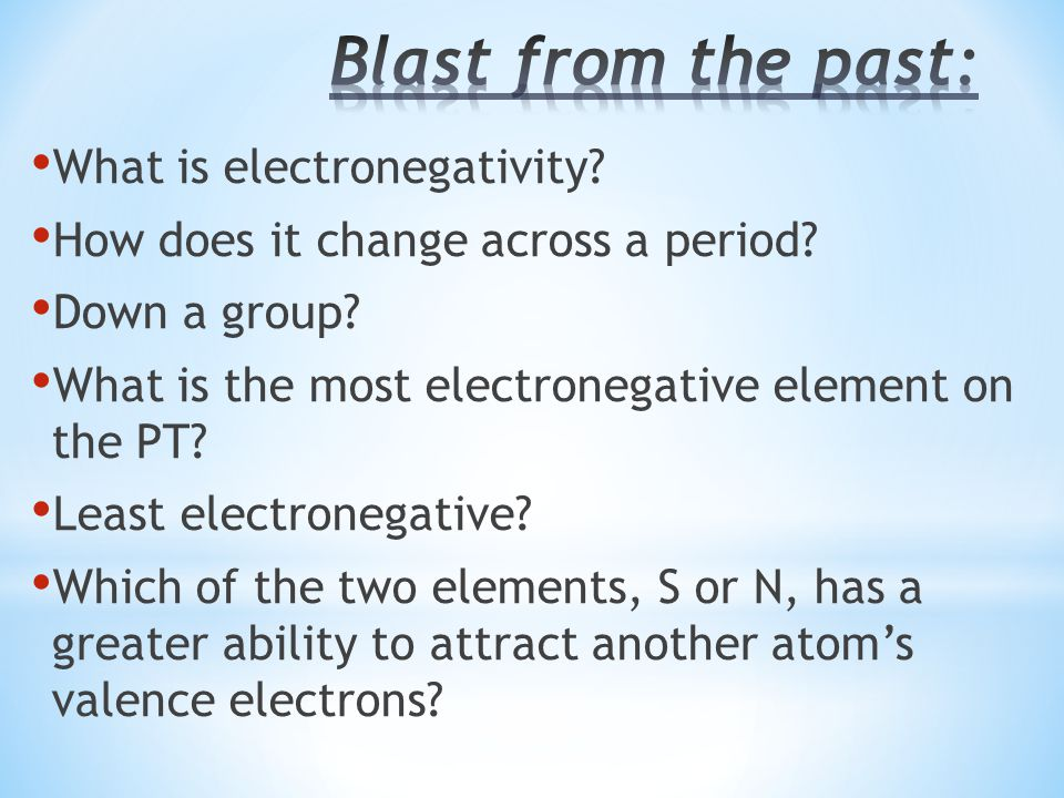 Blast from the past: What is electronegativity