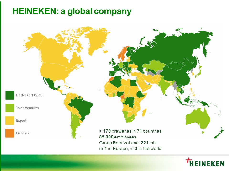 HEINEKEN: a global company