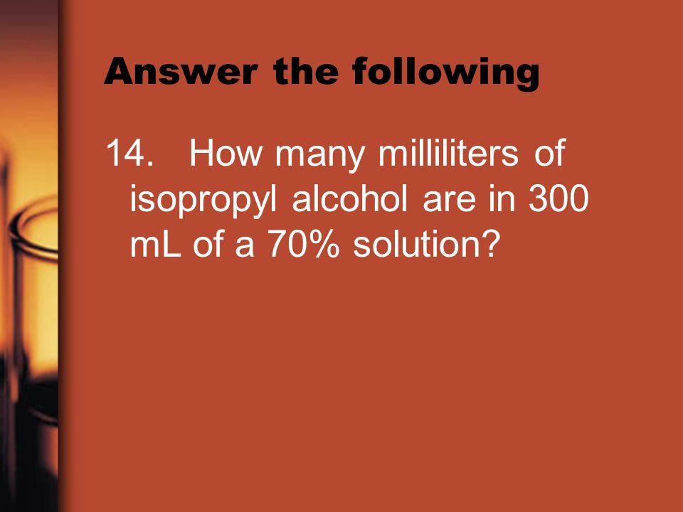 Answer the following 14.