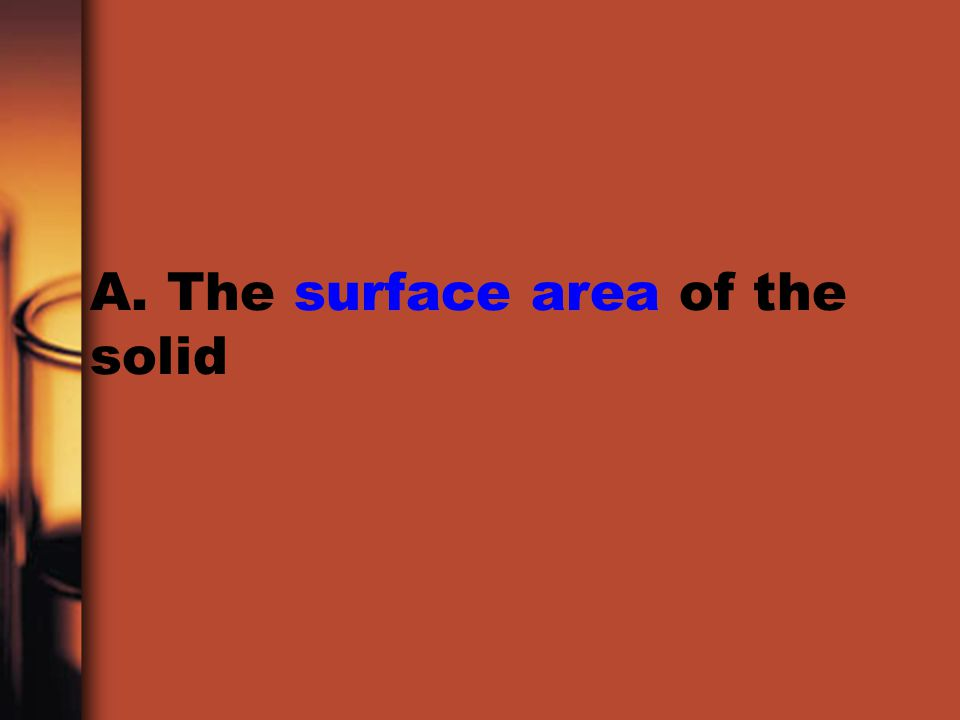 A. The surface area of the solid