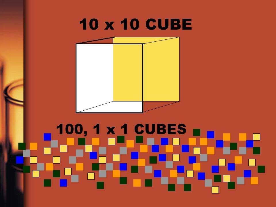 10 x 10 CUBE 100, 1 x 1 CUBES