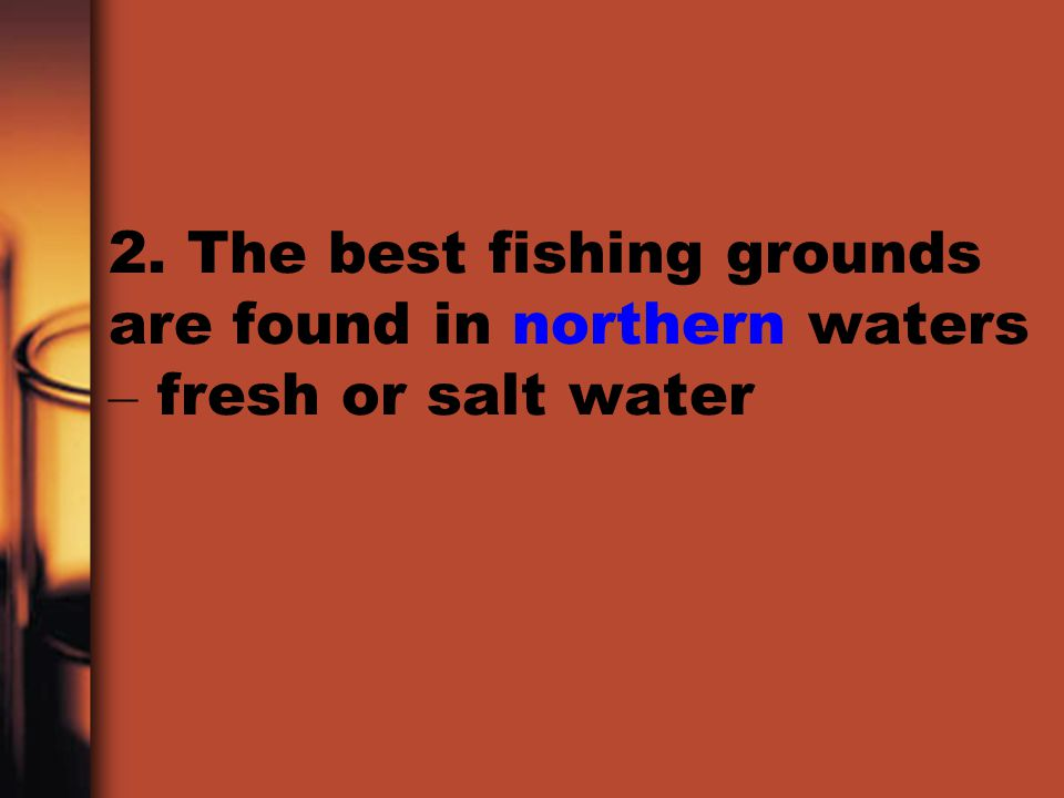 2. The best fishing grounds are found in northern waters – fresh or salt water