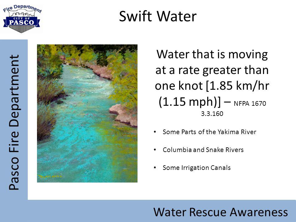 Swift Water Pasco Fire Department