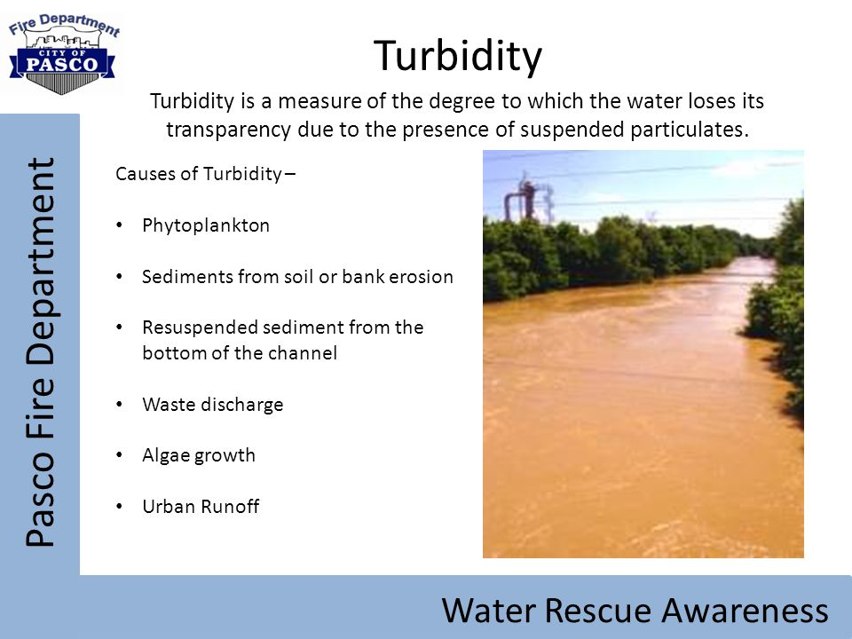 Turbidity Pasco Fire Department Water Rescue Awareness