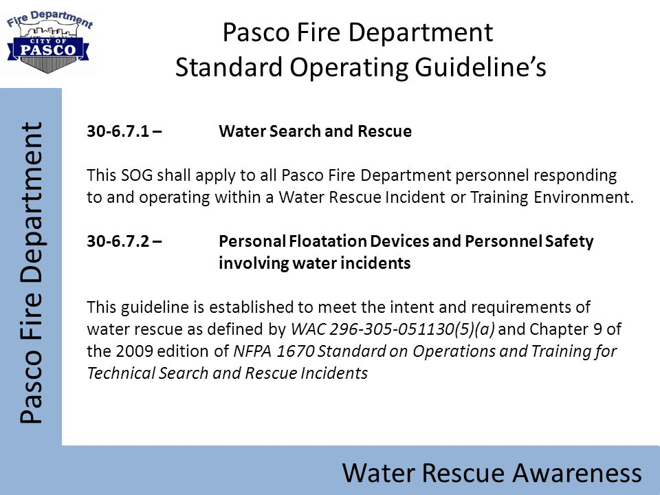 Standard Operating Guideline's