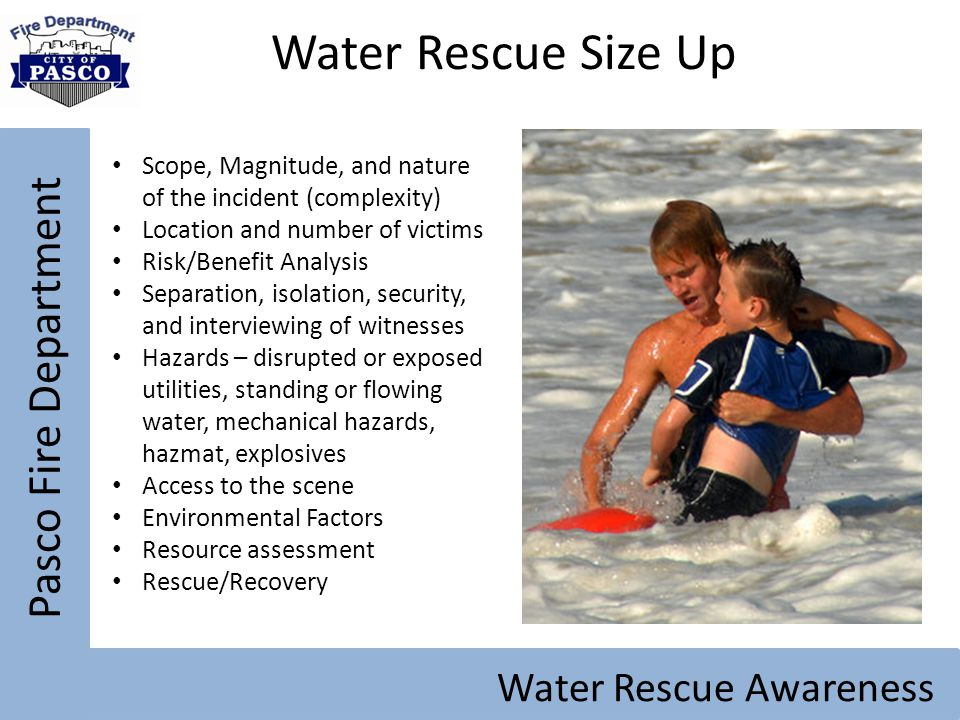 Water Rescue Size Up Pasco Fire Department Water Rescue Awareness