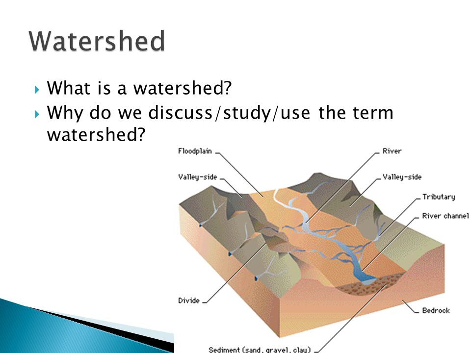 Watershed What is a watershed