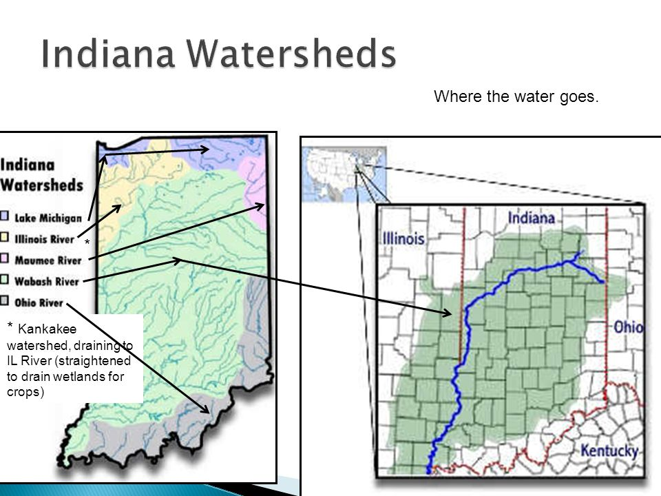 Indiana Watersheds Where the water goes. *