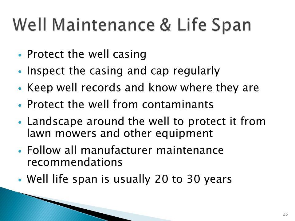 Well Maintenance & Life Span