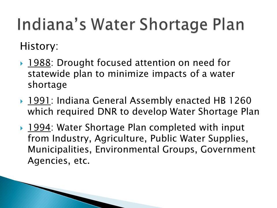 Indiana's Water Shortage Plan