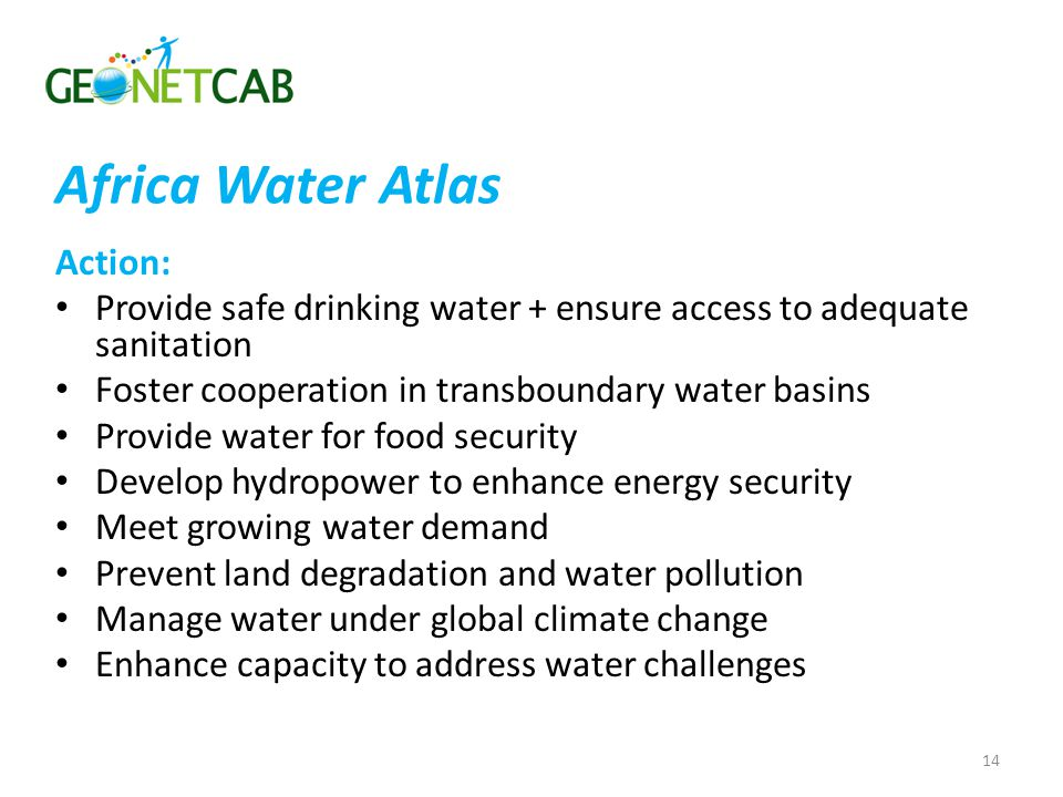 Africa Water Atlas Action: