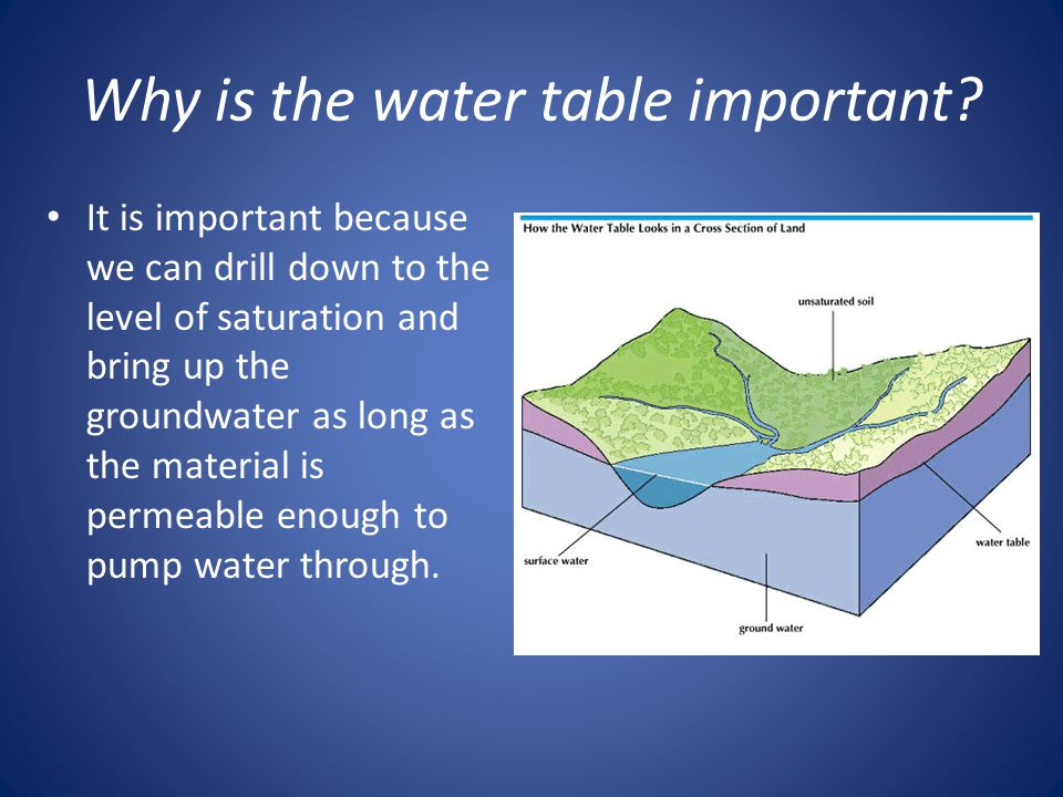 Why is the water table important
