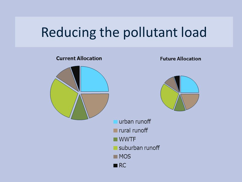 Reducing the pollutant load