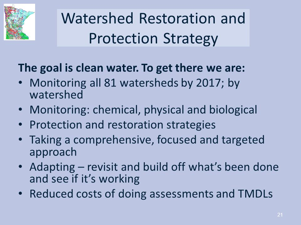 Watershed Restoration and Protection Strategy
