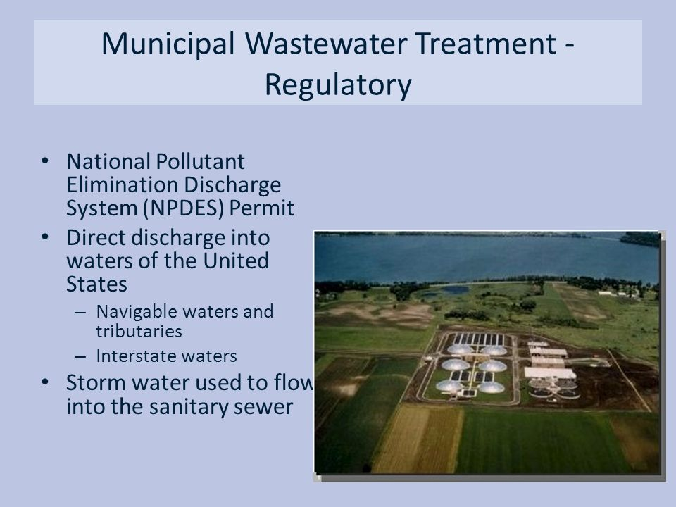 Municipal Wastewater Treatment - Regulatory