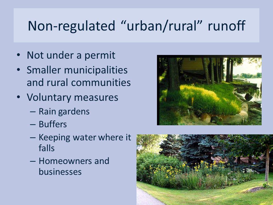 Non-regulated urban/rural runoff