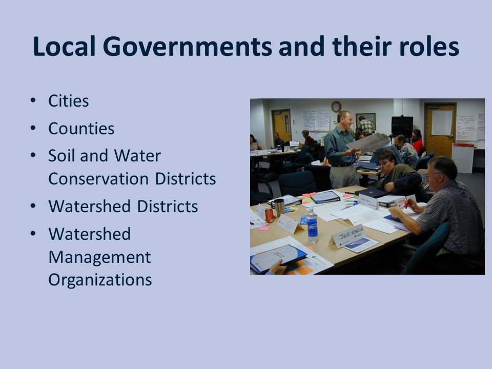 Local Governments and their roles