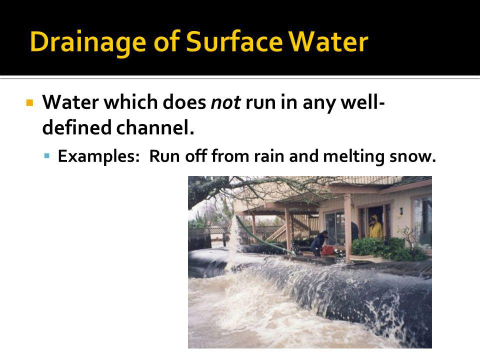 Drainage of Surface Water