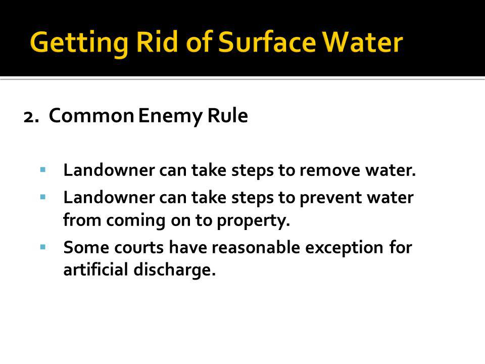 Getting Rid of Surface Water
